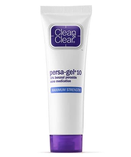 Persa Gel 10 Acne Medication Benzoyl Peroxide Cream Clean Clear