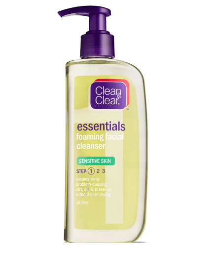 Essentials Foaming Facial Cleanser Sensitive Skin Clean