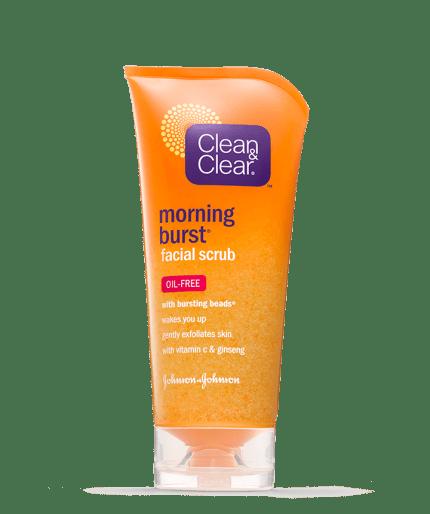 Burst facial scrub