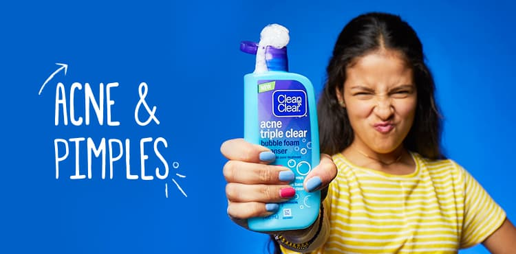 Clean and Clear Acne Triple Clear Bubble Foam Facial Cleanser
