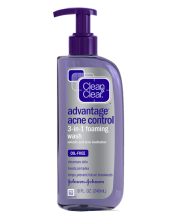 ADVANTAGE ACNE CONTROL 3-IN-1 FOAMING FACE WASH