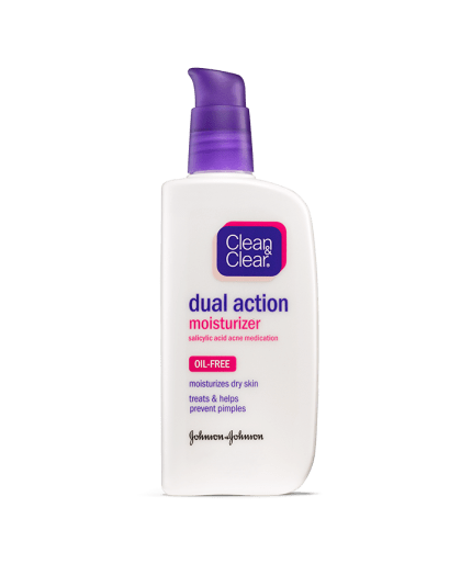 Image result for clean and clear dual action moisturizer