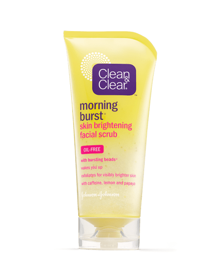 CLEAN & CLEAR Morning Burst Skin Brightening Facial Scrub 5 oz (Pack of 3) Light Years Away Whitening Cream Cleanser Duo Pack 3.17oz
