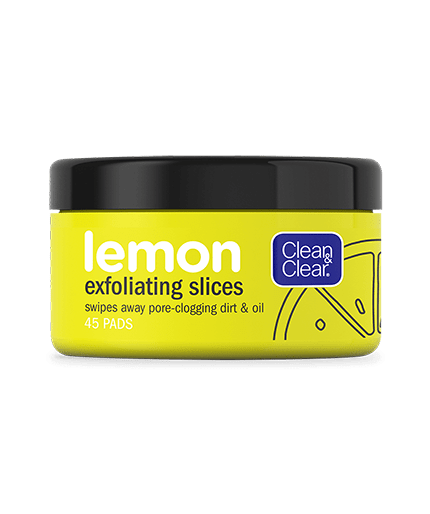 CLEAN & CLEAR Lemon Exfoliating Slices, 45 Count | CLEAN