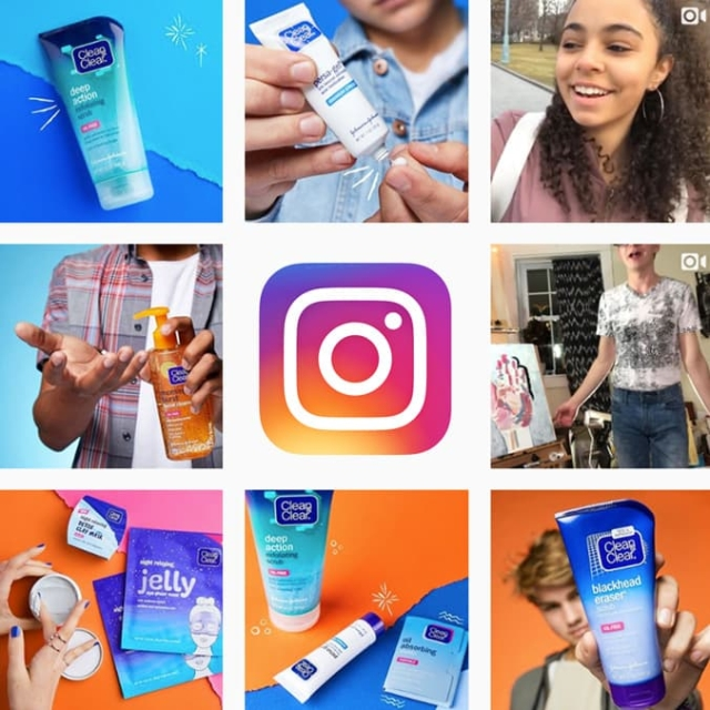Instagram feed clean and clear products